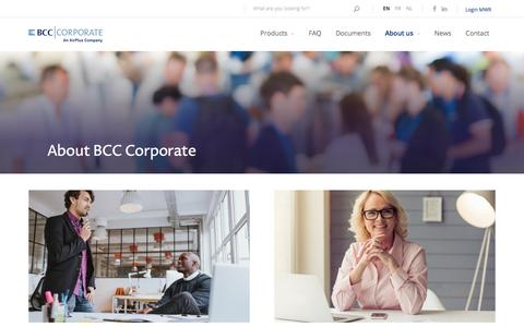Screenshot of About Page bcc-corporate.be - Corporate and consumer payment card solutions that fit your needs. | BCC Corporate - captured March 4, 2018