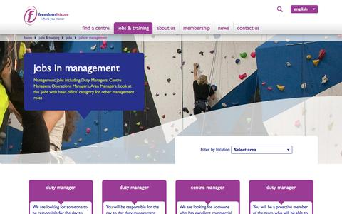 Screenshot of Team Page freedom-leisure.co.uk - jobs in management - captured June 6, 2017