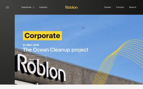 Screenshot of Press Page roblon.com - News - captured Dec. 21, 2018