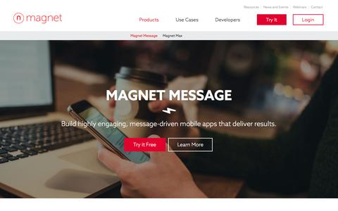 Screenshot of Products Page magnet.com - Magnet Message | Magnet Systems - captured Nov. 18, 2016