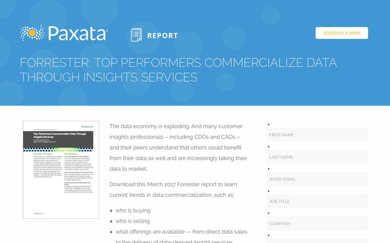 Forrester: Top Performers Commercialize Data Through Insights Services