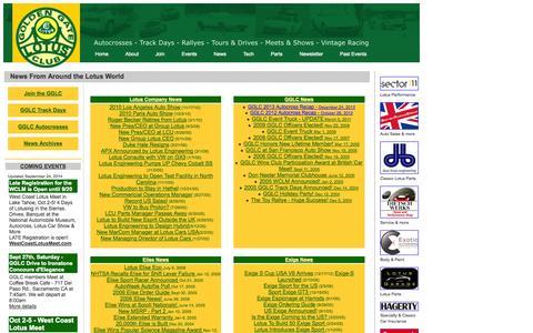 Screenshot of Press Page gglotus.org - GOLDEN GATE LOTUS CLUB - GGLC & Lotus News - captured Oct. 3, 2014