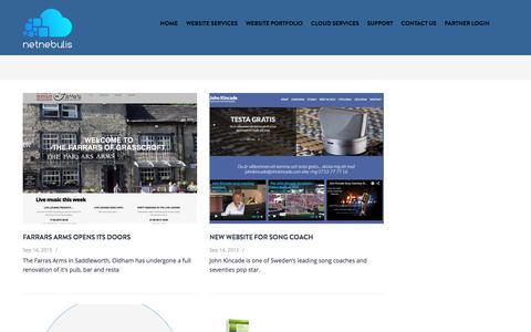 Screenshot of Blog netnebulis.com - Blog page 2 column | Netnebulis: Responsive website design and cloud security solutions - captured July 5, 2017