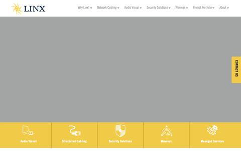 Screenshot of Home Page teamlinx.com - Home - Linx - captured Feb. 11, 2019
