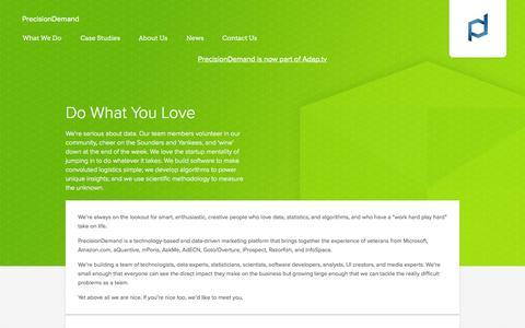 Screenshot of Jobs Page precisiondemand.com - precisiondemand.com - Careers - captured Sept. 16, 2014