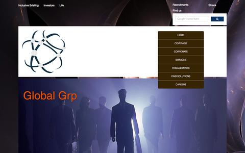 Screenshot of Home Page global-grp.com - Global Grp - captured Sept. 19, 2014