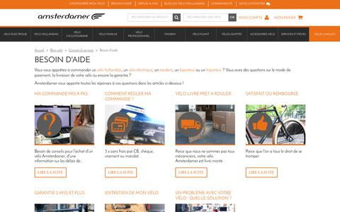 Screenshot of FAQ Page amsterdamer.fr - Besoin d'aide - Amsterdamer - captured Oct. 10, 2017