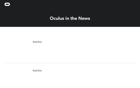 Screenshot of Press Page oculus.com - News | Oculus - captured May 10, 2016