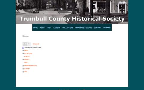 Screenshot of Site Map Page google.com - Sitemap - Trumbull County Historical Society - captured March 8, 2017