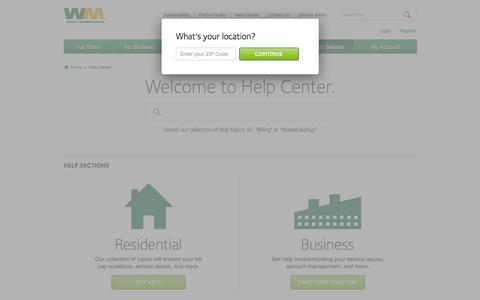 Screenshot of wm.com captured March 20, 2016