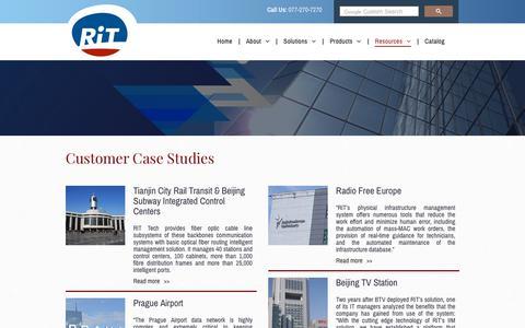 Screenshot of Case Studies Page rittech.com - RiT Tech Ltd. | Case Studies - captured Nov. 3, 2018