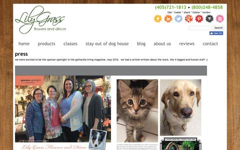 Screenshot of Press Page lilygrass.com - Press | Lily Grass - captured Nov. 9, 2016