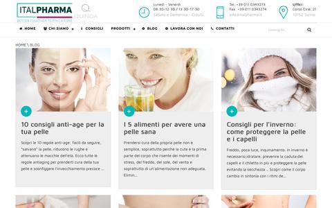 Screenshot of Blog italpharma.it - BLOG Italpharma - Prodotti per la cura della pelle - captured Nov. 14, 2018