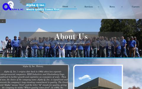 Screenshot of About Page alphaqinc.com - About - captured Nov. 6, 2018