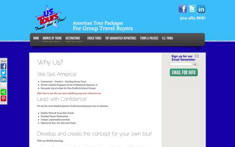 Screenshot of About Page ustours.biz - Why Us?   US Tours - captured Sept. 30, 2014