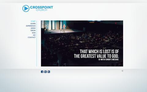 Screenshot of Home Page crosspointchurch.com - Start | Crosspoint Church - captured Oct. 3, 2014