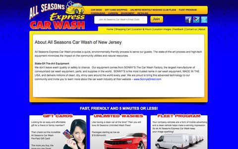 Screenshot of About Page allseasonscarwashnj.com - About All Seasons Car Wash of New Jersey - captured Oct. 8, 2014