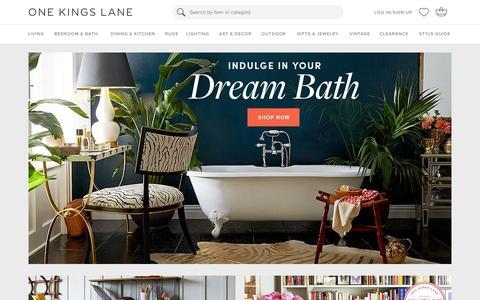 Screenshot of Login Page onekingslane.com - Furniture, Sofas, Rugs, Bedding, Home Decor   One Kings Lane - captured Feb. 4, 2016