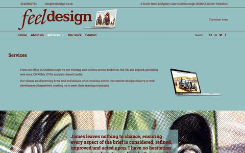 Screenshot of Services Page feeldesign.co.uk - Feel Design |   Services - captured Oct. 13, 2017