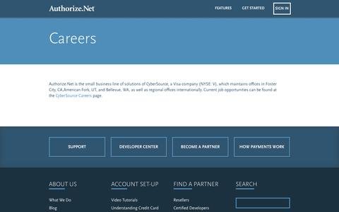Screenshot of Jobs Page authorize.net - Careers - Authorize.Net - captured Feb. 29, 2016