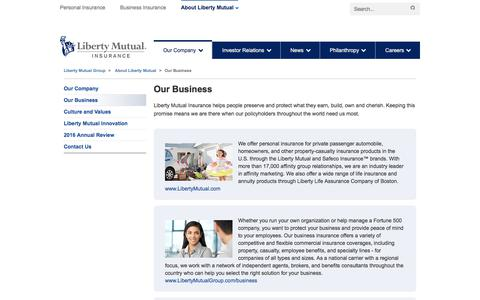 Our Business at LibertyMutualGroup.com