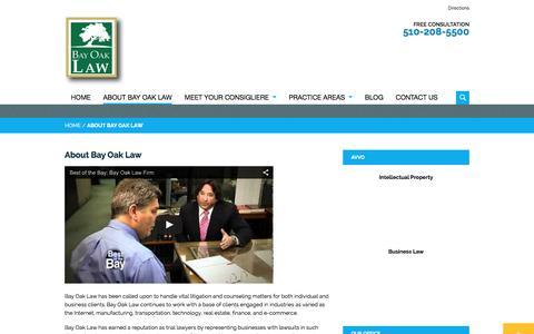 Screenshot of About Page bayoaklaw.com - Oakland Law Firm, Bay Oak Law | About Bay Oak Law - captured Dec. 30, 2015