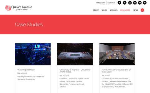 Screenshot of Case Studies Page quinceimaging.com - Case Studies   Quince Imaging - captured July 25, 2018