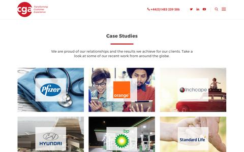 Screenshot of Case Studies Page cgaexperience.com - Case Studies   CGA experience   what makes us the experts in Customer Experience - captured May 12, 2017