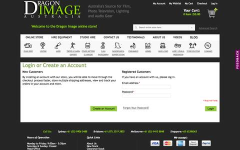 Screenshot of Login Page dragonimage.com.au - Customer Login - Dragon Image - captured Sept. 19, 2014