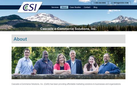 Screenshot of About Page 4cesi.com - About - Cascade e-Commerce Solutions Inc - captured July 17, 2017