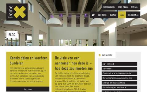 Screenshot of Blog dome-x.biz captured Oct. 29, 2014