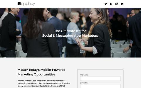 Screenshot of Landing Page appboy.com - Mastering Social & Messaging Marketing | Appboy - captured Aug. 28, 2017