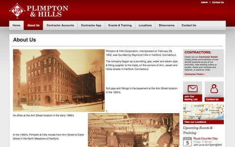 Screenshot of About Page plimptonhills.com - About Us | Plimpton and Hills - captured Sept. 25, 2018