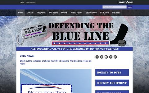 Screenshot of Home Page defendingtheblueline.org - Defending the Blue Line - captured Jan. 7, 2016