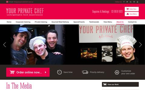 Screenshot of Press Page yourprivatechef.com.au - Your Private Chef in The Media - captured March 22, 2016