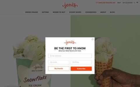 Screenshot of Home Page jenis.com - Jeni's Splendid Ice Creams - captured July 5, 2019
