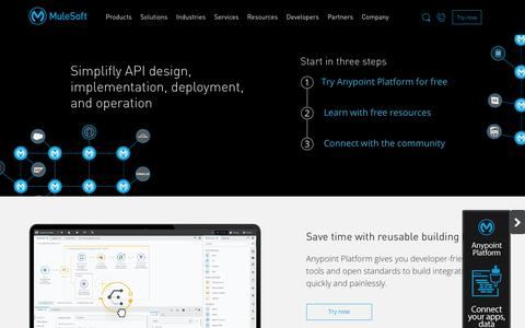 Simplifly API design, implementation, deployment, and operation | MuleSoft Developers