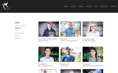 Screenshot of Team Page urbanharveststl.org - People — Urban Harvest STL - captured Jan. 5, 2018
