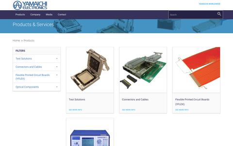Screenshot of Products Page yeu.com - Products - captured Feb. 4, 2016
