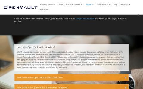 Screenshot of FAQ Page openvault.com - FAQs - OpenVault - captured Dec. 19, 2016