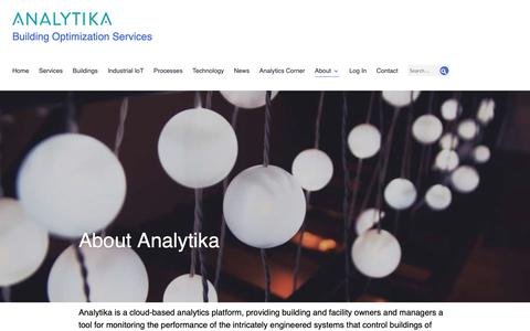 Screenshot of About Page analytika.com - About Analytika - Building Optimization Services - captured Oct. 3, 2018