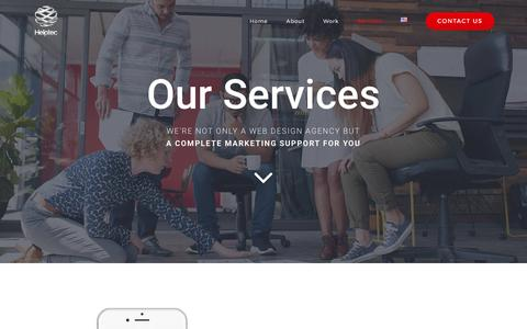 Screenshot of Services Page helptec.fr - Our Services at Helptec - Your Marketing Digital Marketing Partner since 2013 - captured May 17, 2017