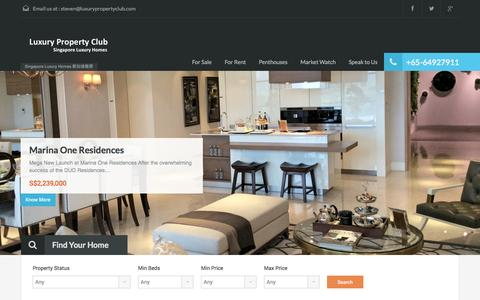 Screenshot of Home Page luxurypropertyclub.com - Singapore Luxury Homes - Luxury Property Club 新加坡楼房Luxury Property Club 新加坡楼房 - captured Oct. 3, 2014