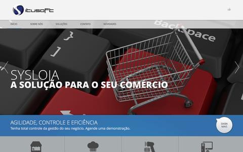 Screenshot of Home Page itusoft.com.br - Home - ItusoftItusoft - captured Dec. 5, 2015