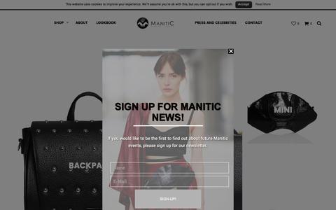 Screenshot of Home Page manitic.com - Leather Handbags - captured Nov. 19, 2016