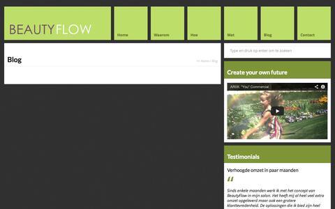 Screenshot of Blog beauty-flow.com - Blog - Beauty Flow - captured Sept. 30, 2014