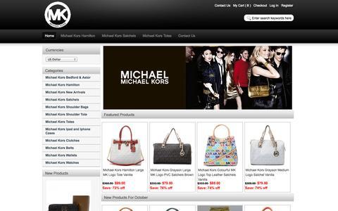 Screenshot of Home Page mkbagskingdom.com - Cheap Michael Kors Handbags Sale Online, Save 60%! - captured Oct. 5, 2014