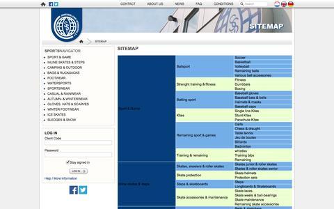 Screenshot of Site Map Page schreuderssport.nl - Sitemap | Schreuders Sport International B.V. - captured Oct. 4, 2014