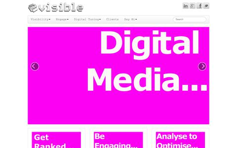 Screenshot of Home Page evisible.co.uk - Evisible - Hi Visibility Digital Marketing - Hampshire UK - captured July 22, 2018