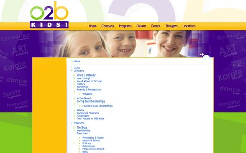 Screenshot of Site Map Page o2bkids.com - Untitled Page - captured Sept. 30, 2014